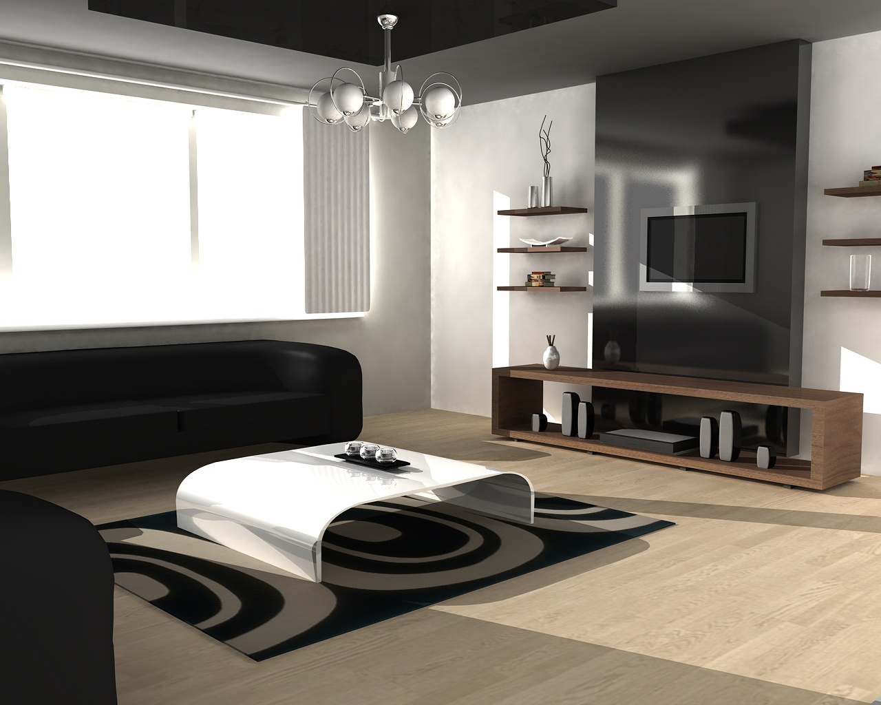 fashionable living room idea The basic principles in feng shui for house