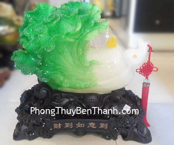 bap cai y322 02 Feng shui Guangdong colored stone powder Cabbage Y322