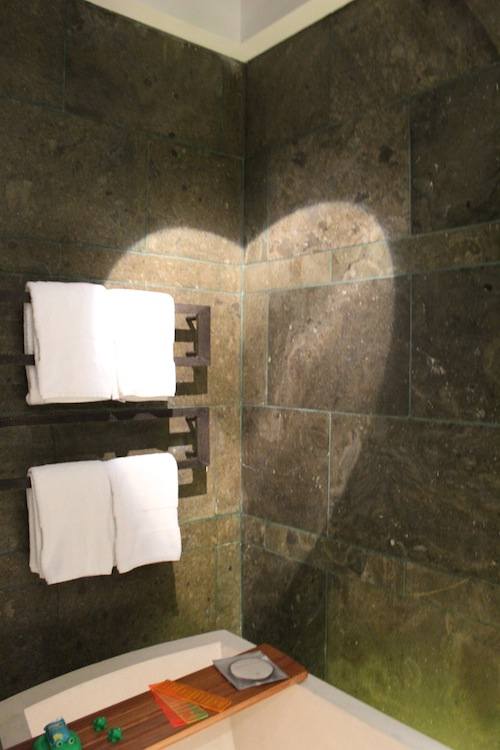 w retreat spa bali heart shape shower area Where is love and relationships area in the bathroom?